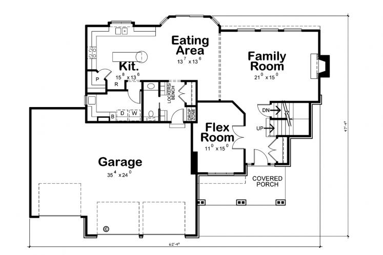 Country House Plan - Reagan 53892 - 1st Floor Plan