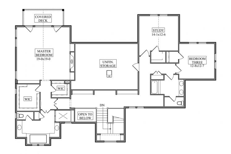Cape Cod House Plan - Gladewater 53977 - 2nd Floor Plan