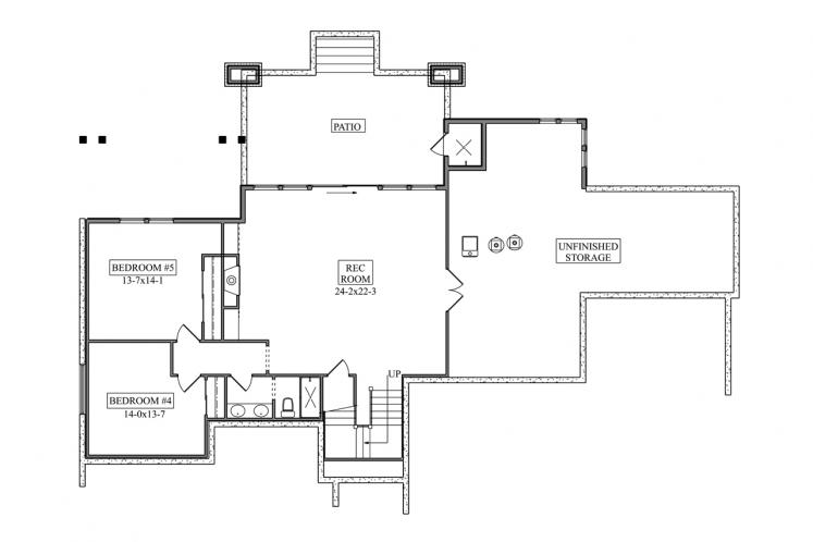 Craftsman House Plan - Gladewater 53977 - Basement Floor Plan
