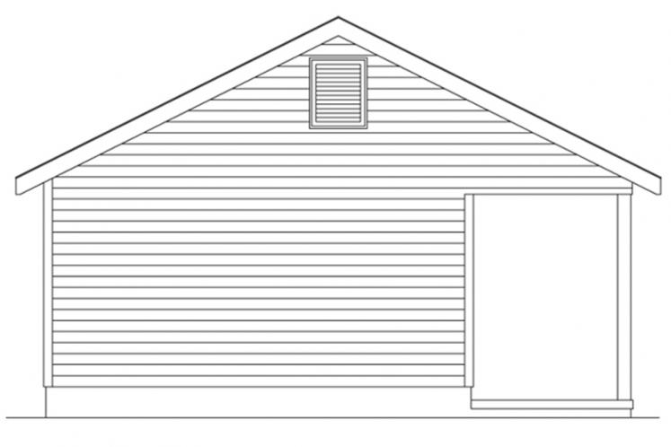 Country House Plan -  53996 - Left Exterior