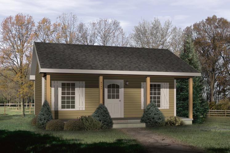 Traditional House Plan -  53996 - Front Exterior
