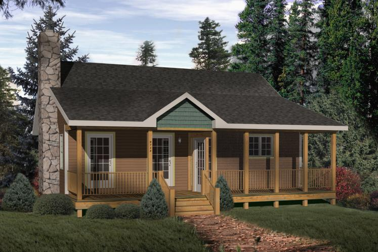 Traditional House Plan -  54130 - Front Exterior