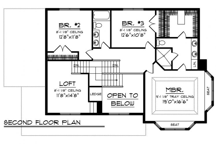 Country House Plan -  54270 - 2nd Floor Plan