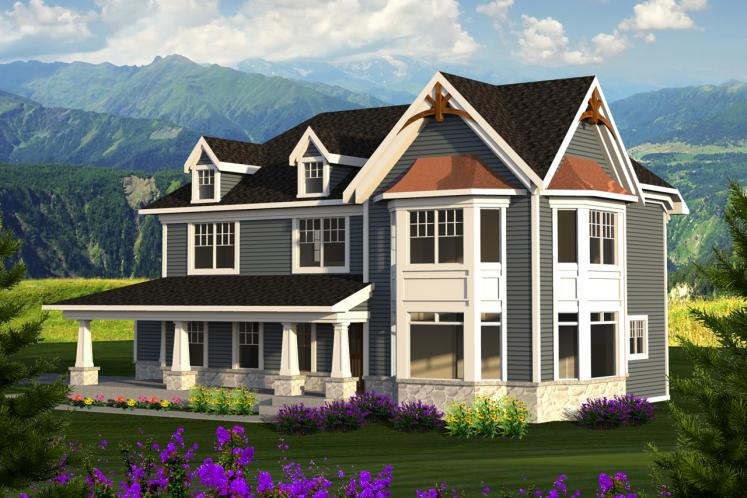 Country House Plan -  54270 - Front Exterior