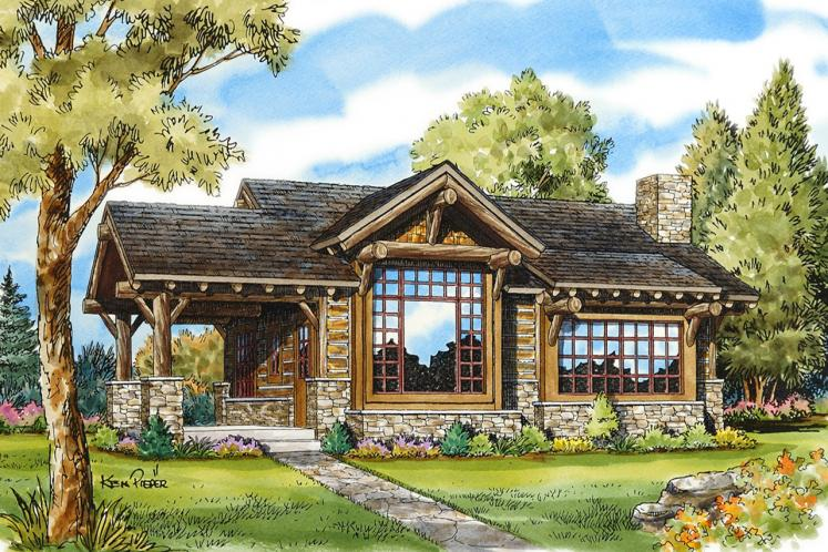 Cottage House Plan - Cub Creek 54439 - Front Exterior