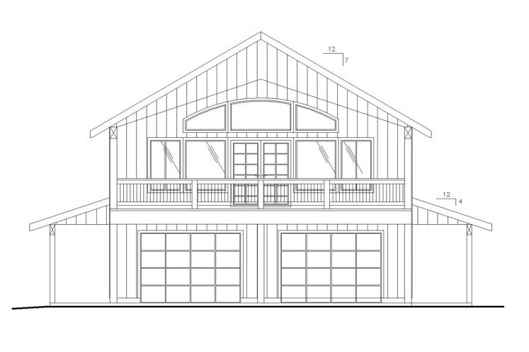 Country Garage Plan -  54455 - Front Exterior