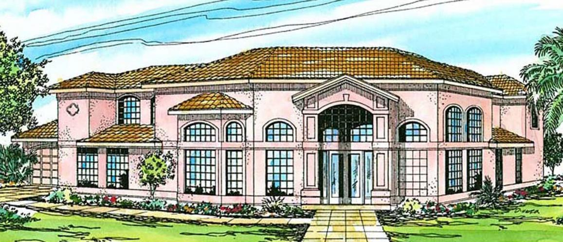 Southwest House Plan - Savannah 54522 - Front Exterior