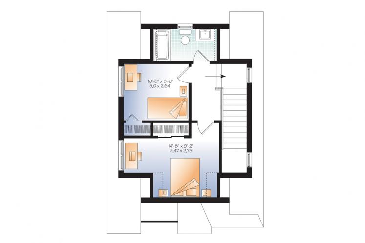 Country House Plan - Melia 54637 - 2nd Floor Plan