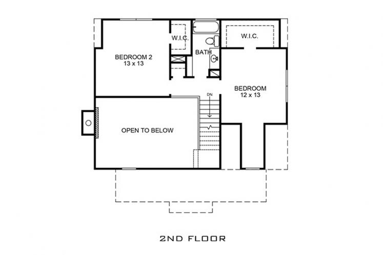 Farmhouse House Plan - Cadiz 54657 - 2nd Floor Plan