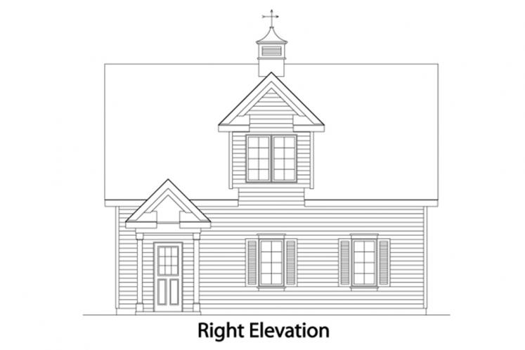 Traditional Garage Plan -  54820 - Right Exterior