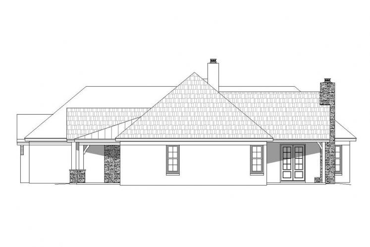 Ranch House Plan -  54861 - Right Exterior