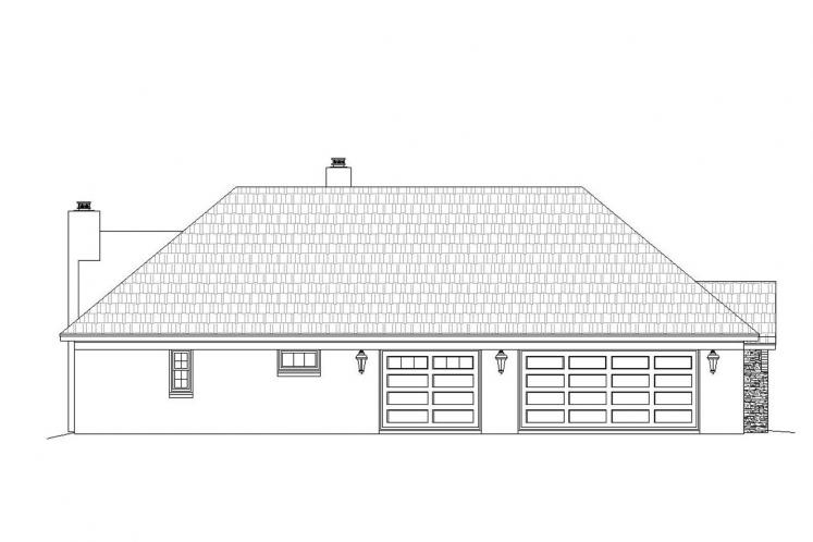 Country House Plan -  54861 - Left Exterior