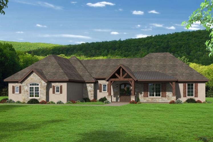 European House Plan -  54861 - Front Exterior