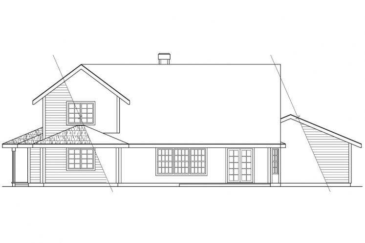Cottage House Plan - Trinity 54884 - Rear Exterior