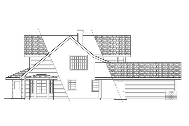 Traditional House Plan - Trinity 54884 - Left Exterior
