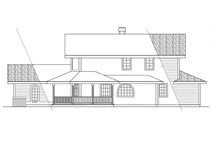 Country House Plan - Trinity 54884 - Right Exterior