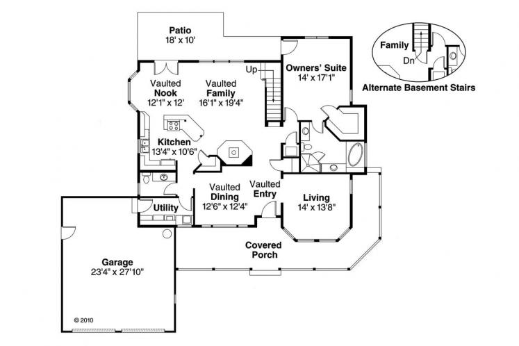 Cottage House Plan - Trinity 54884 - 1st Floor Plan