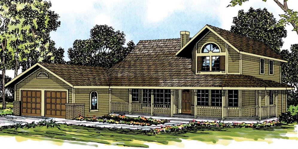 Country House Plan - Trinity 54884 - Front Exterior