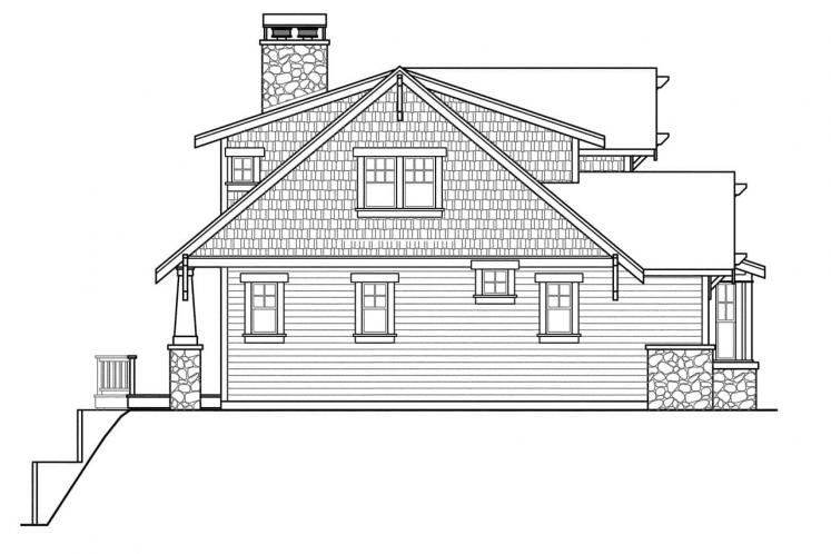 Traditional House Plan - Cedarbrook 55006 - Left Exterior