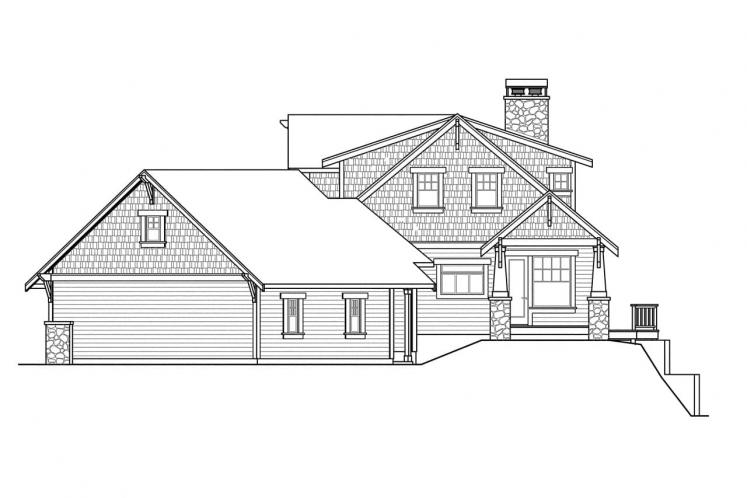 Craftsman House Plan - Cedarbrook 55006 - Right Exterior