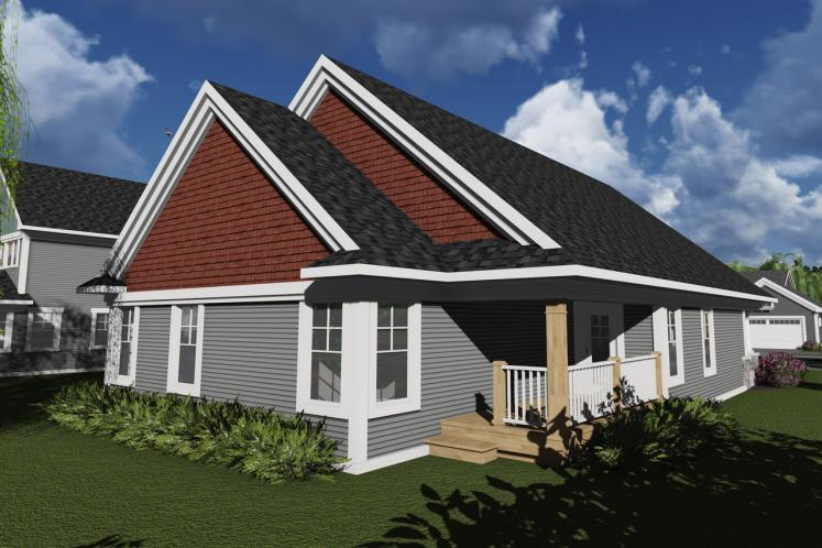 Cottage House Plan -  55074 - Rear Exterior
