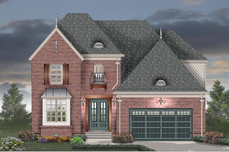 European House Plan -  55165 - Front Exterior