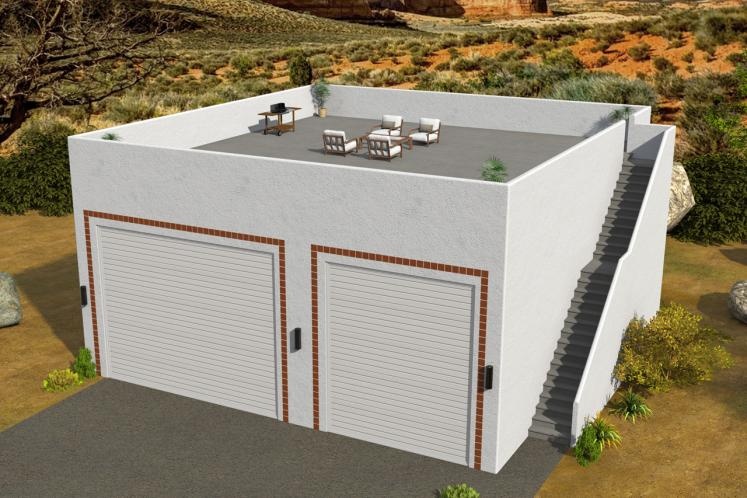 Southwest Garage Plan -  55179 - Front Exterior