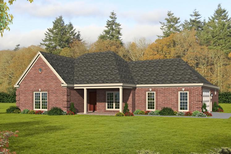Colonial House Plan - Trotter Place 55226 - Front Exterior