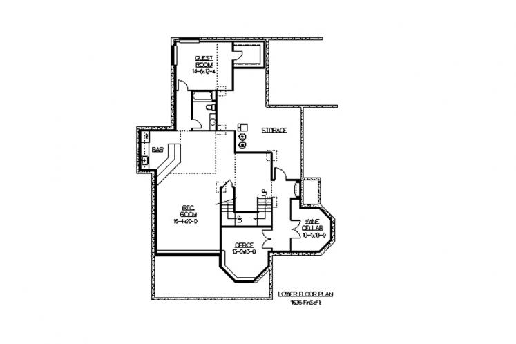 European House Plan - Alpe D'Huez 55234 - Basement Floor Plan