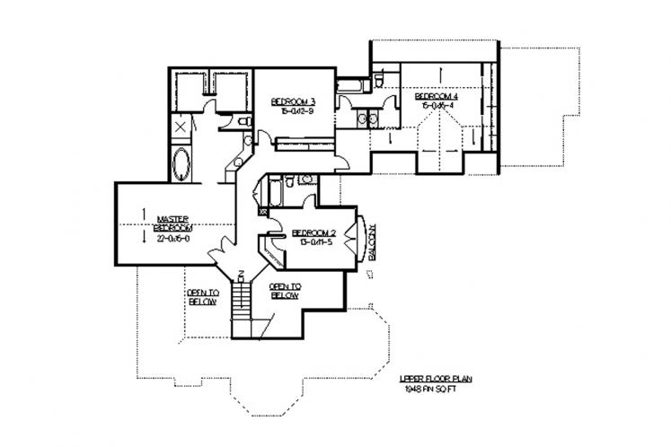 Classic House Plan - Alpe D'Huez 55234 - 2nd Floor Plan