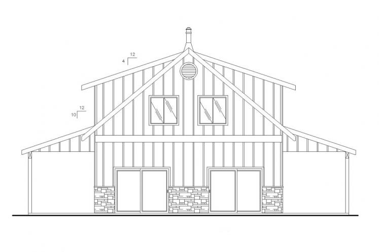 Country House Plan -  55257 - Front Exterior