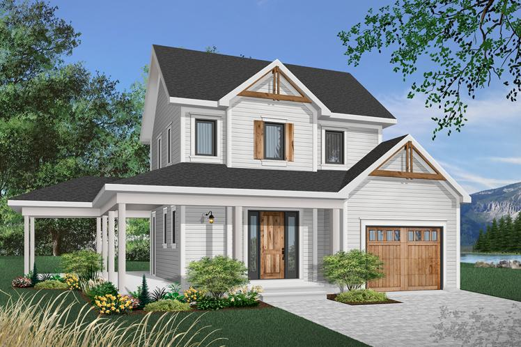 Country House Plan - Larch Lake 2 55346 - Front Exterior