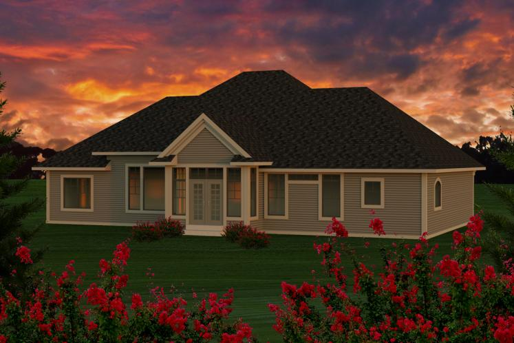 Classic House Plan -  55356 - Rear Exterior