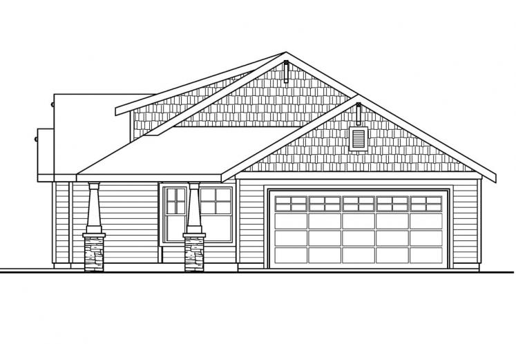 Bungalow House Plan - Strathmore 55366 - Right Exterior