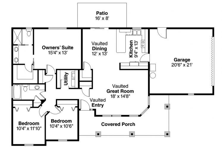 Country House Plan - Strathmore 55366 - 1st Floor Plan