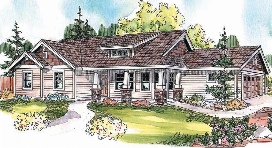 Bungalow House Plan - Strathmore 55366 - Front Exterior