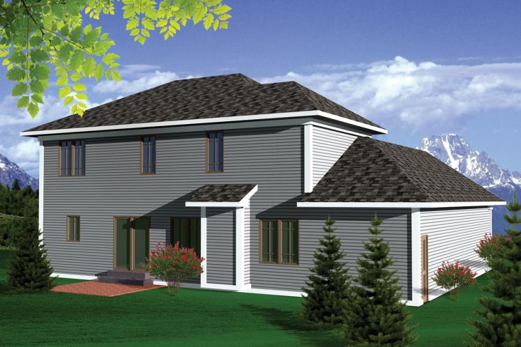 Classic House Plan -  55462 - Rear Exterior