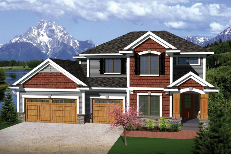 Traditional House Plan -  55462 - Front Exterior