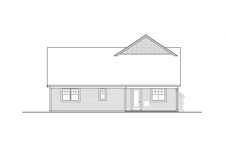 Country House Plan - Silverside 55535 - Rear Exterior