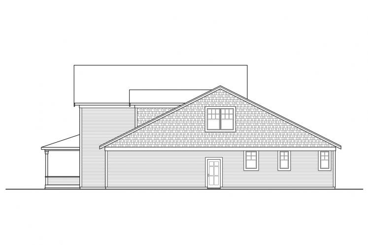 Country House Plan - Silverside 55535 - Right Exterior