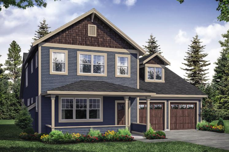 Traditional House Plan - Silverside 55535 - Front Exterior