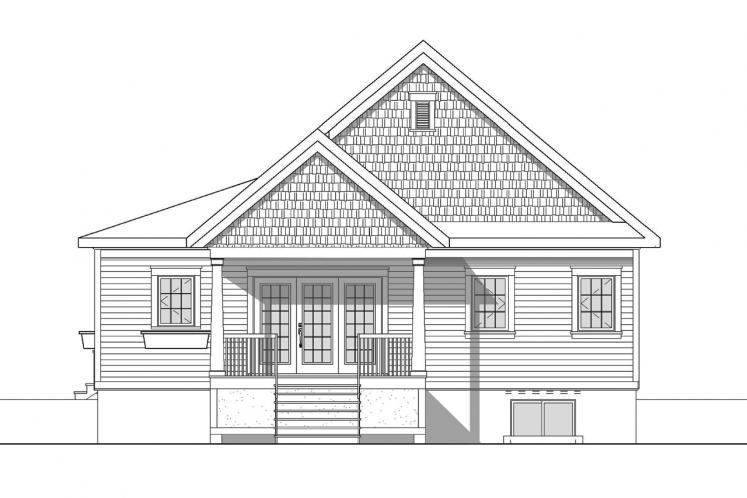 Cottage House Plan - Galerno 5 55582 - Rear Exterior