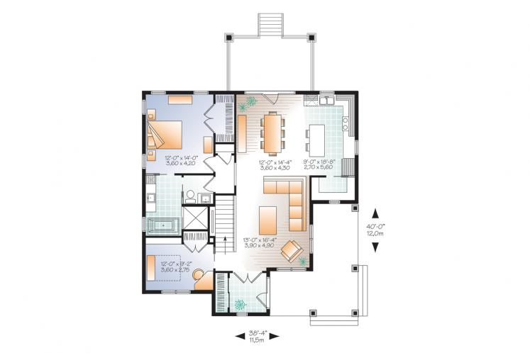 Traditional House Plan - Galerno 5 55582 - 1st Floor Plan