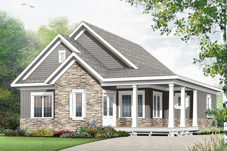 Country House Plan - Galerno 5 55582 - Front Exterior