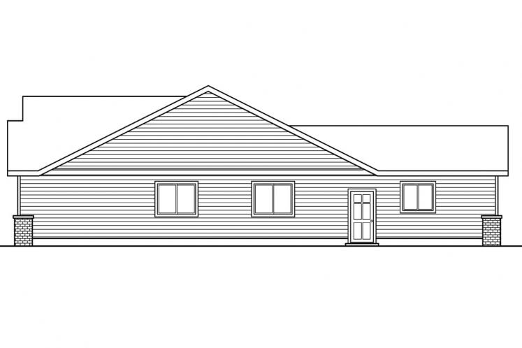 Cottage House Plan - Callaway 55587 - Right Exterior