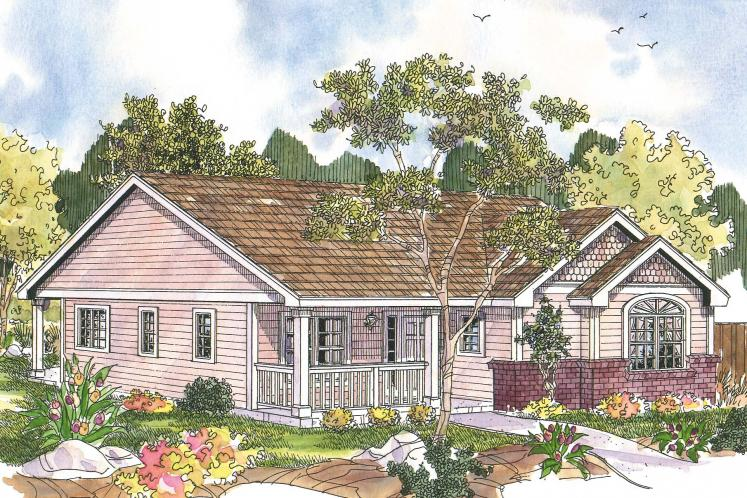 Cottage House Plan - Callaway 55587 - Front Exterior