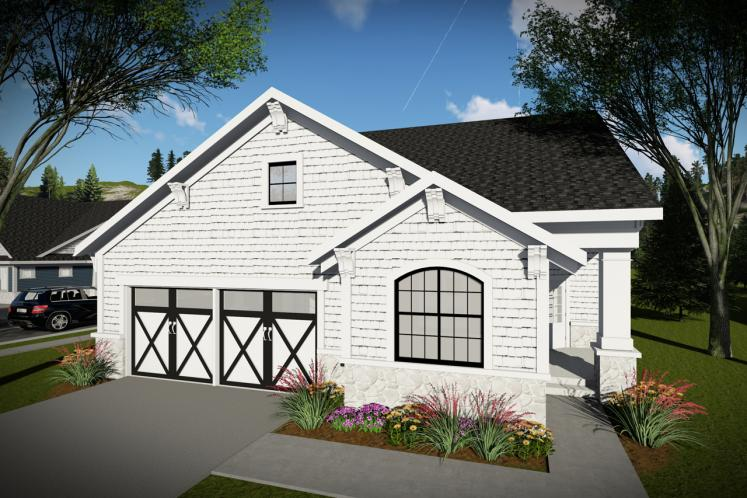 Ranch House Plan -  55597 - Front Exterior