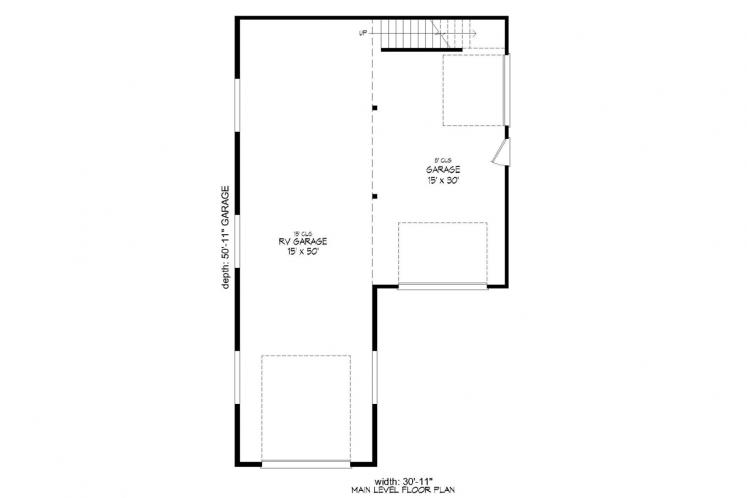 Traditional Garage Plan -  55664 - 1st Floor Plan