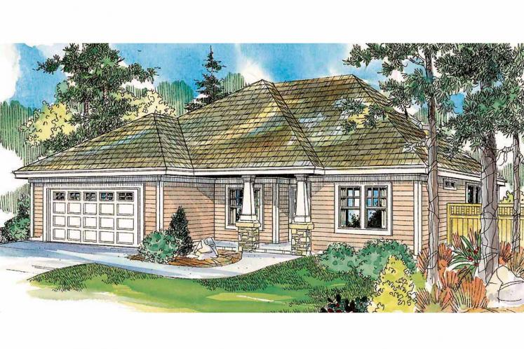 Ranch House Plan - Wheatfield 55728 - Front Exterior