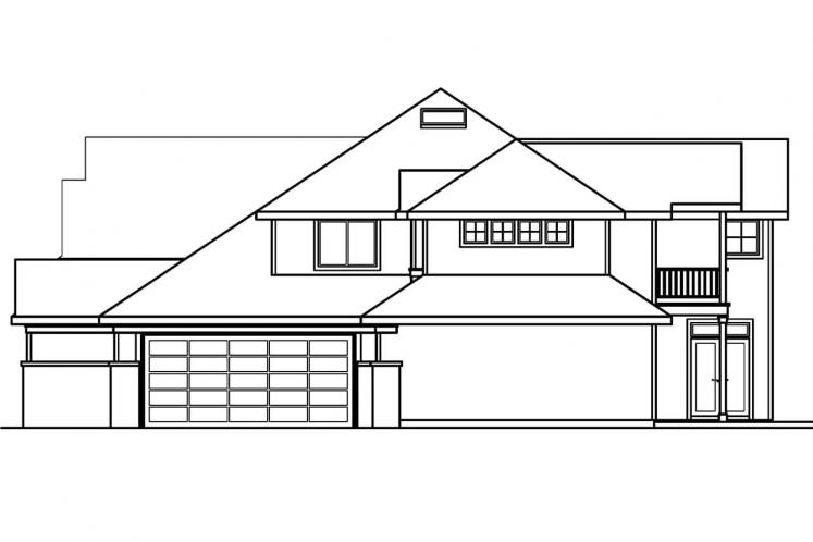 Craftsman House Plan - Bethany 55761 - Right Exterior